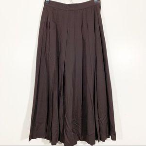 Banana Republic 8 Vintage 90s Brown Pleated Skirt